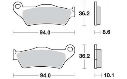 Brake Pads R1100GS rear