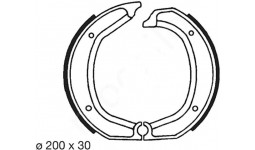 Brake Shoe set R 1969-1981 rear