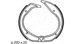 Brake Shoe set R 1981-1990 rear